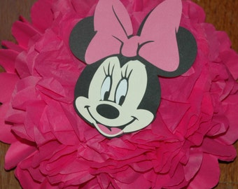 Minnie Mouse Disney baby shower decorations, Minnie Mouse Birthday decorations - tissue pom pom - Birthday Shower decoration