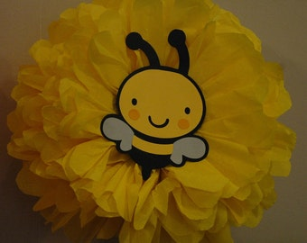 Bumble Bee Decorations Tissue Paper Pom Poms Party