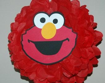Sesame Street Elmo birthday/ Elmo party decoration/ Sesame Street party / Birthday decoration/ Tissue pom pom party decor/ Tissue paper poms