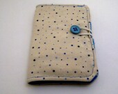 Tea Wallet - Tiny Dots in Blue