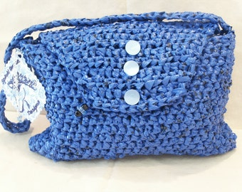 Blue Recycled Bags Purse by My Spirit Horse Designs