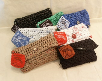 Recycled Bags Clutch/Cosmetic Purses by My Spirit Horse Designs