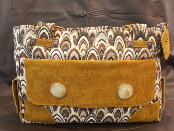 Elegant Tapestry And Elk Leather Purse by My Spirit Horse Designs