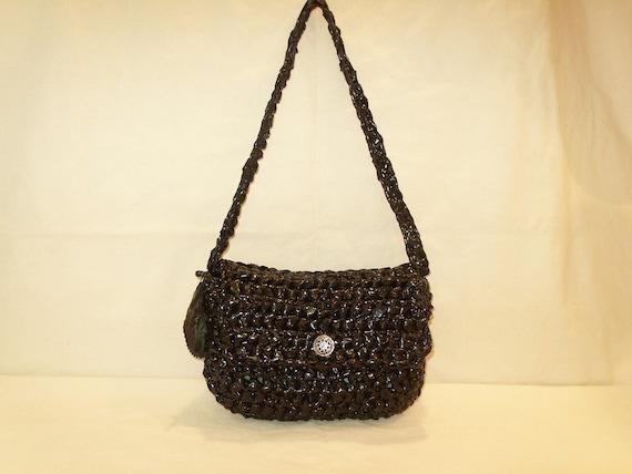 Eco-Friendly Black Plastic Bags Purse by My Spirit Horse Designs