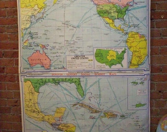 U.S. & the Caribbean Hanging Wall Map