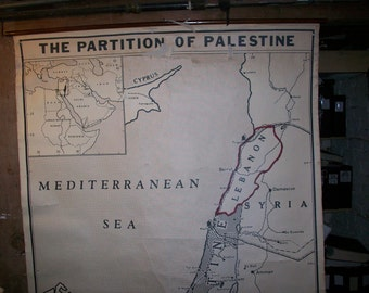 Partition of Palestine - Vintage Wall Map