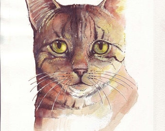 Cat Portrait print of my original