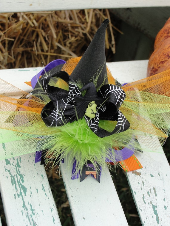 Halloween Witch Hat Hairbow