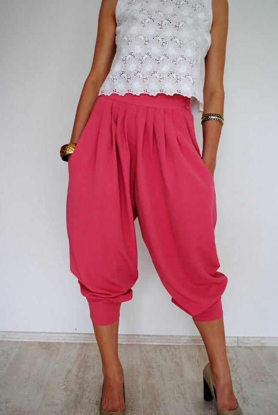 Salmon Pink High Waist Tapered Pants Vintage 80s