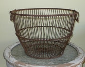 Vintage Wire Clam Basket, New England