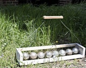 Ciao Bella Rustic Bocce Ball Carrier - Lawn Game Carrier Tote, Outdoor Leisure Sports, Ball Caddy