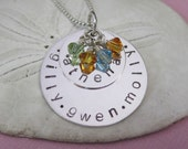 Hand Stamped Necklace - Kids Names Necklace - Mommy Necklace - Childrens Names Necklace