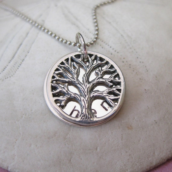 Petite Family Tree Necklace - Locket Necklace - Baby Name Necklace - Personalized - Tree of Life Jewelry
