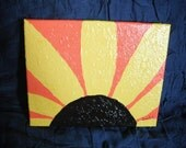 Sunflower Burst  / 10x8 acrylic painting on canvas