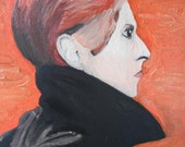 David Bowie / portrait  painting / 16x20 stretched canvas / acrylic painting