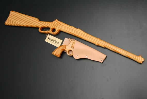 Items Similar To Hand Made Wooden Western Gun Set With