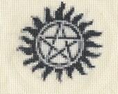 Pattern for Supernatural Tattoo x- Stitch