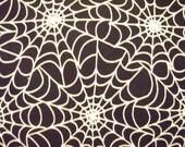 Spider Web Glow In Dark Spiderweb Black White Cotton Fabric Fat Quarter or Custom Listing