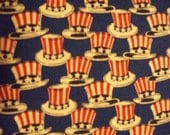 Hats Flag Stars Americana Quilts of Valor Cotton Fabric