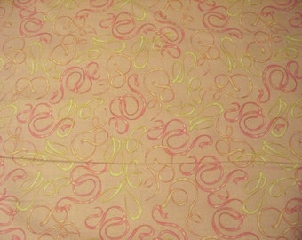 Bellisma Ballerina Gorgeous Dance Ribbons Cotton Fabric Fat Quarter OOP