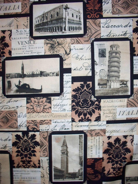 Venice Italy Travel Baroque Cotton Fabric