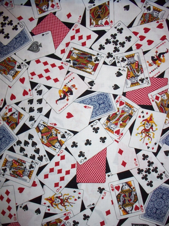 Playing Cards Deck of Cards Cotton Fabric