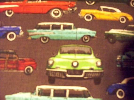 1950's Retro Mod Cars Cotton Fabric by scizzors on Etsy