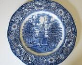 Liberty Blue Transferware Dinner Plate