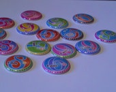 I am This Many 6 - 9 years flat back buttons set of 15 hair bow supplies