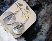 Vintage abalone shell earrings