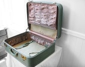 Skyway Mint Green Suitcase - 1940s