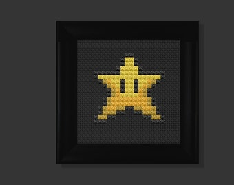 star (mario bros) cross stitch pattern PDF