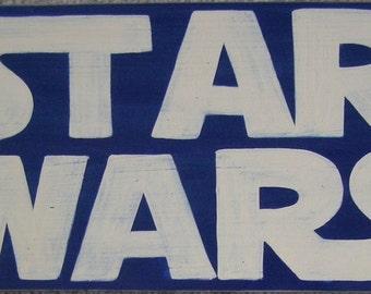 STAR WARS Sign Plaque Boys Jedi Knight Room Wall Decor Wood HP