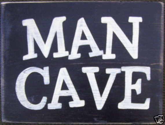 The MAN CAVE Sign Basement Poker Game Card Room Hideaway Room Decor Wall Wood Sign Plaque