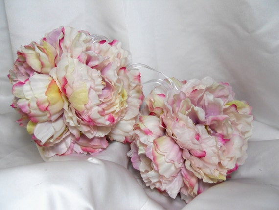 Pink And White Peony Pomander Kissing Balls For Wedding Day Decorations Or Bridal Bouquets 2