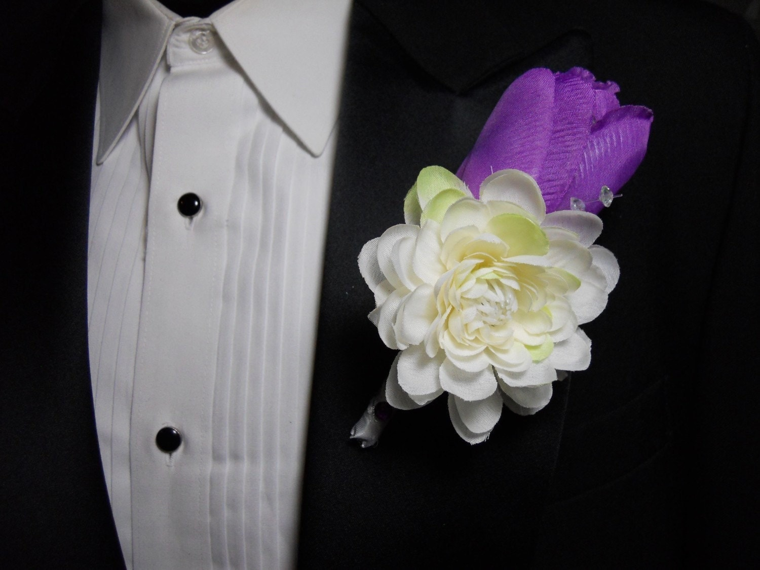 Latex purple pink white tulip wedding bouquet posy flowers ...