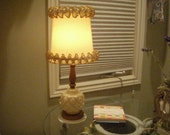 Vintage Shabby Chic RuffleTable Lamp