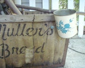Vintage Blue and Cream color  Flour Sifter