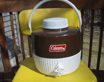 Vintage Rich Chocolate Brown Coleman Picnic Jug