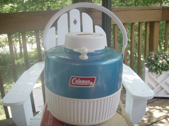Vintage Turquoise Coleman Picnic Jug/ Thermos