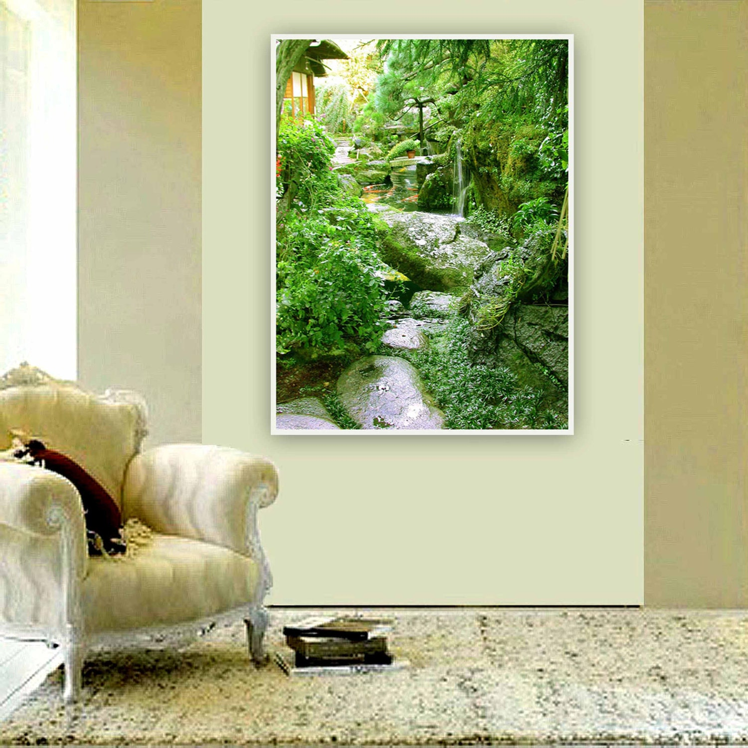 Photography 8 x 10 modern wall art decor feng shui for Bureau zen feng shui