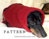 Dachshund Sweater and Snood Sewing Pattern  for handmade pets clothing
