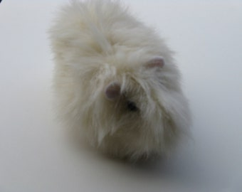 Guinea Pig Plush Creme Off White