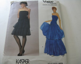 Vogue Vintage Pattern Kasper 1623 Gown Size 12