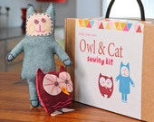 Owl & Cat Sewing Kit