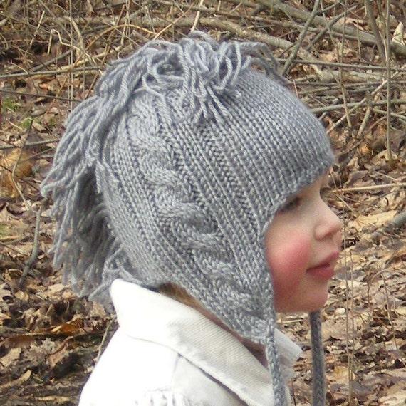 Baby Mohawk Hat, Gladiator, Steel Grey, Toddler Hat