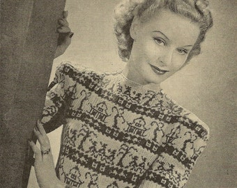 1940s STUNNING Willow Pattern Jumper Bestway 1633