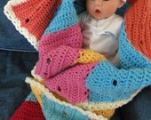 Sophie's Modern Striped Baby Blanket BRIGHT COLORS Ready  to go