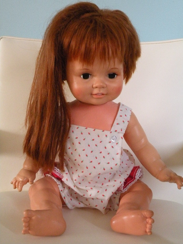 1972 baby crissy doll by ideal corp by sophieschoyce on etsy