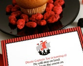 Custom Printable Invitation - Pirates Party Collection - Download and Print Digital JPEG Images